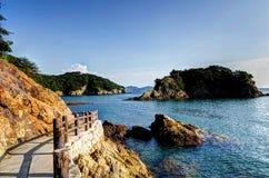 Five Colors Rock Of Sensuijima. Royalty Free Stock Photos