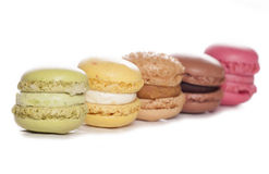 Five colourful Macaroons Royalty Free Stock Images