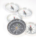 Five compasses Royalty Free Stock Image