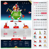 Five components website template for christmas Royalty Free Stock Images