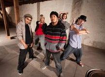 Five Cool Break Dancers. Five cool hip hop dancers strike a pose Royalty Free Stock Photos