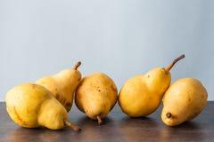Five corella pears Stock Photography