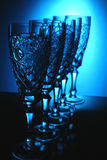 Five crystal glass Royalty Free Stock Photography