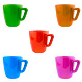 Five cups Royalty Free Stock Image