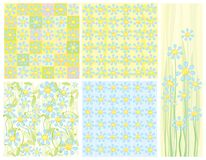 Five of cute backgrounds. Stock Images