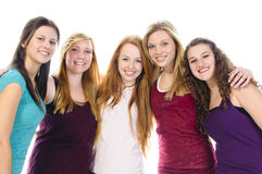 Five Cute Girls royalty free stock images