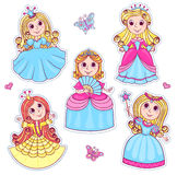 Five cute little princesses Royalty Free Stock Photos