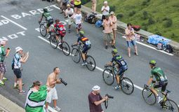 Five Cyclists on Col de Peyresourde - Tour de France 2014 Stock Photography