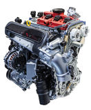 Five cylinder car engine Stock Images
