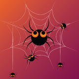 Five dancing spiders Stock Photo