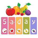 Five-a-day Royalty Free Stock Image