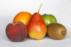 Five-a-day fruits Stock Photo