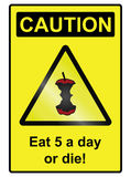 Five a day hazard Sign Royalty Free Stock Photos