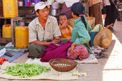 Five-day market, Inle Lake Stock Photography