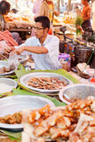 Five-day market, Inle Lake Royalty Free Stock Photo