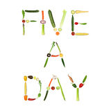 Five A Day Vegetables Royalty Free Stock Photo