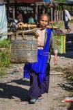 Five days market Inle Lake Shan state Myanmar Royalty Free Stock Image