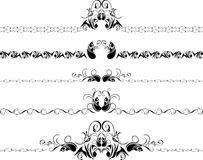 Five decorative borders. Isolated on the white. Illustration Royalty Free Stock Image
