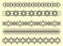 Five decorative Guilloche, vec Royalty Free Stock Image