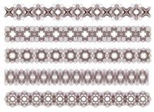 Five decorative lines, vector Stock Photo