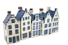 Five delft blue houses Stock Photography
