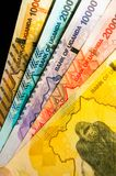Five Ugandan monetary bank notes royalty free stock photo