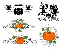 Five design elementsHalloween Pattern Royalty Free Stock Image