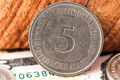 5 five Deutsche Mark Bundesrepubik Deutschland Royalty Free Stock Photo