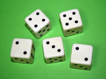 Five Dice. Royalty Free Stock Photography