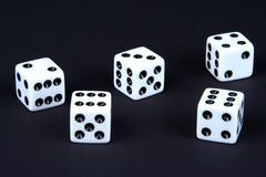 Five Dice Stock Photos