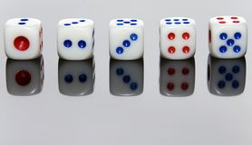 Five Dice Stock Photo