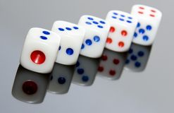 Five Dice Stock Images