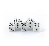 Five dice Royalty Free Stock Photography
