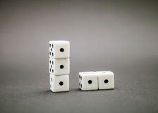 Five dice Stock Photography