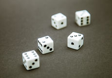 Five dice Stock Image
