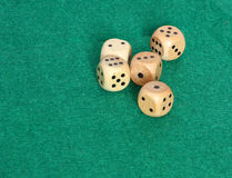 Five dice Royalty Free Stock Image