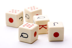 Five dice together Royalty Free Stock Images
