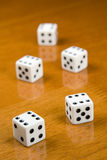 Five Dices Royalty Free Stock Image