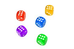 Five dices Stock Images