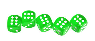 Five dices Royalty Free Stock Photos
