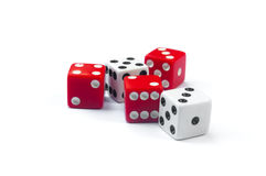 Five dices mixed Stock Image