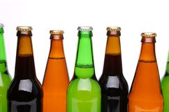 Five different bottlenecks. On a white background Royalty Free Stock Images