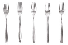 Five different fork Royalty Free Stock Image