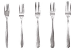 Five different fork Stock Photos