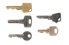 Five different keys Stock Photo