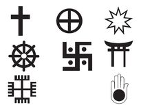 Five different native American and african  symbol Royalty Free Stock Images