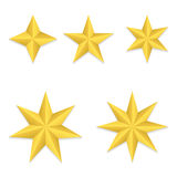 Five different stars Royalty Free Stock Photos