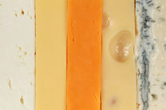 Five different types of cheese Stock Image