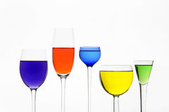 Five Different Wine-glasses Royalty Free Stock Images