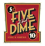 Five and Dime General Store Main Street Vintage Sign royalty free illustration
